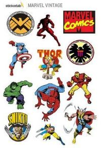 Стикерпак Stickerlab - Marvel Vintage