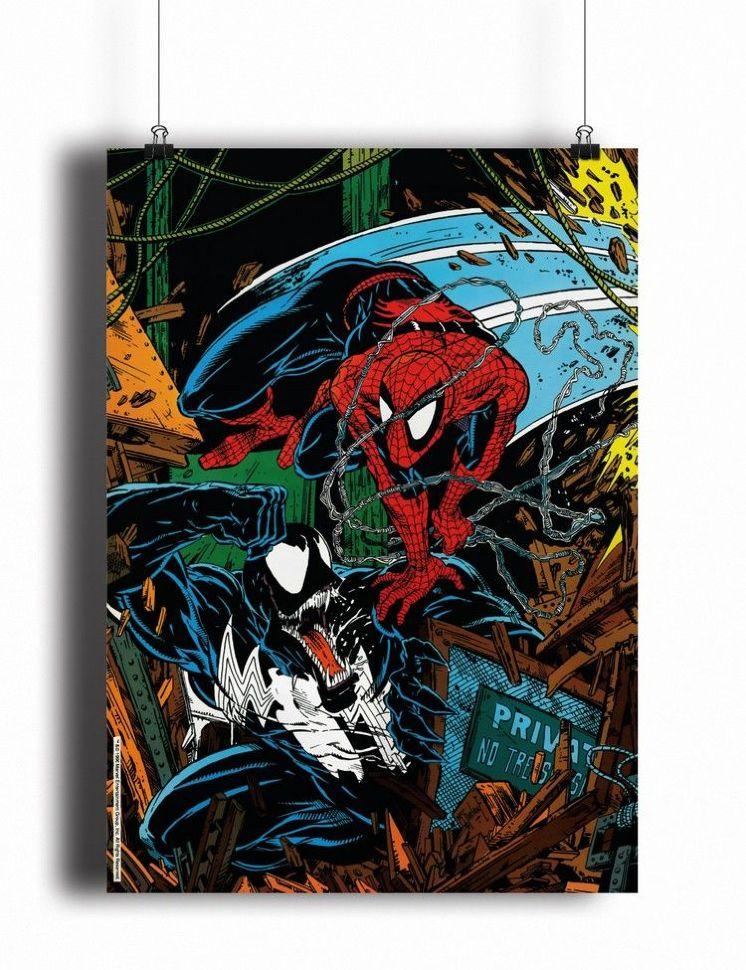 Купить Постер Spider-Man vs Venom (pm076) недорого в ...