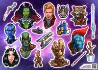 Стикерпак Igloinor - Guardians of the Galaxy