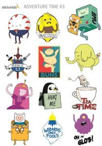 Стикерпак Stickerlab - Adventure Time №3