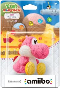 Фигурка Nintendo Amiibo - Pink Yarn Yoshi (Yoshi's Woolly World Series)