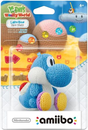 Фигурка Nintendo Amiibo - Light Blue Yarn Yoshi (Yoshi's Woolly World Series)