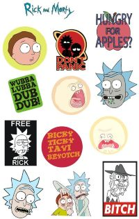 Стикерпак Stickerlab - Rick and Morty №1